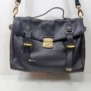 Cynthia Rowley leather locking crossbody briefcase
